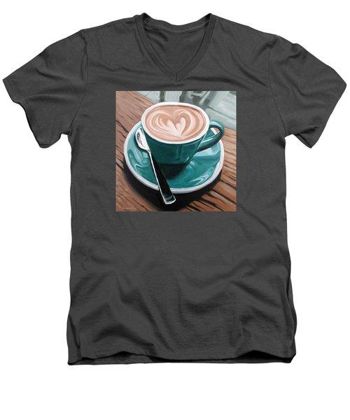 Rainy Day Men's V-Neck T-Shirt by Nathan Rhoads