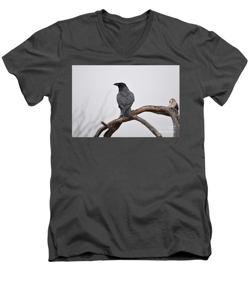 Rainy Day Raven Men's V-Neck T-Shirt