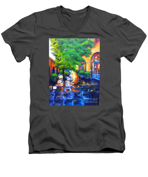 Rainy Dutch Alley Men's V-Neck T-Shirt