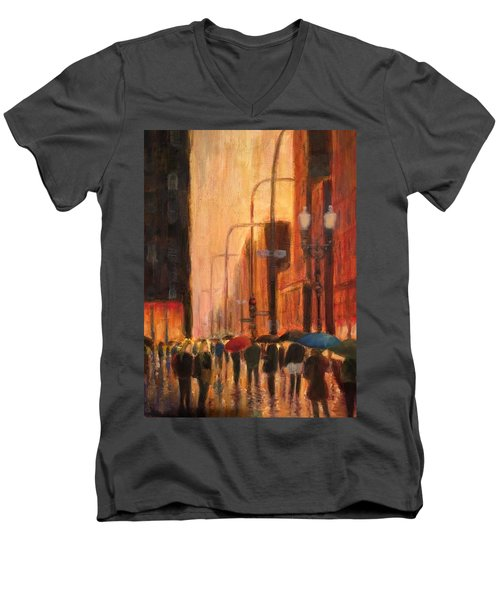Rainy Evening Chicago Men's V-Neck T-Shirt