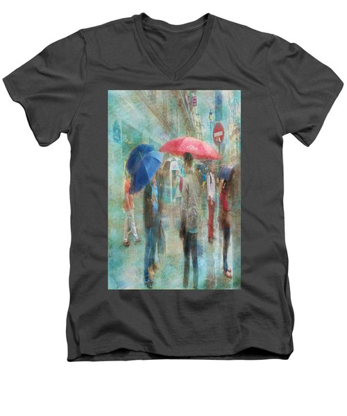 Rainy In Paris 6 Men's V-Neck T-Shirt