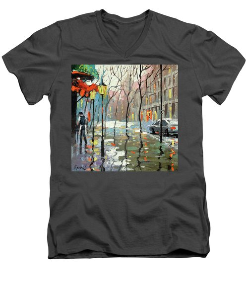 Rainy Landscape Men's V-Neck T-Shirt
