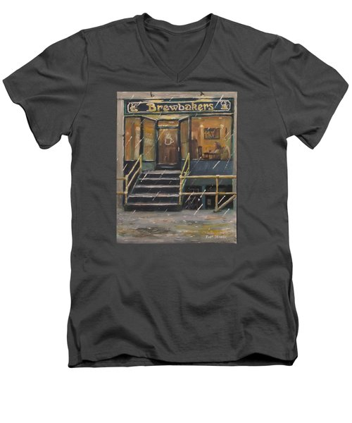 Rainy November Afternoon Coffee Men's V-Neck T-Shirt
