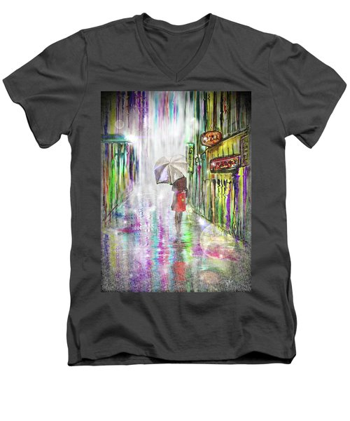 Rainy Paris Day Men's V-Neck T-Shirt