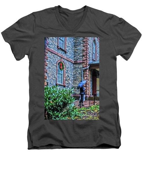 Rainy Sunday Men's V-Neck T-Shirt by Sandy Moulder