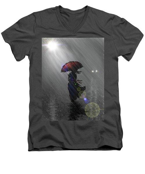 Rainy Walk Men's V-Neck T-Shirt