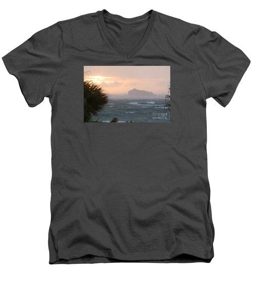 Rainy Xmas Sunrise Men's V-Neck T-Shirt by Margaret Brooks