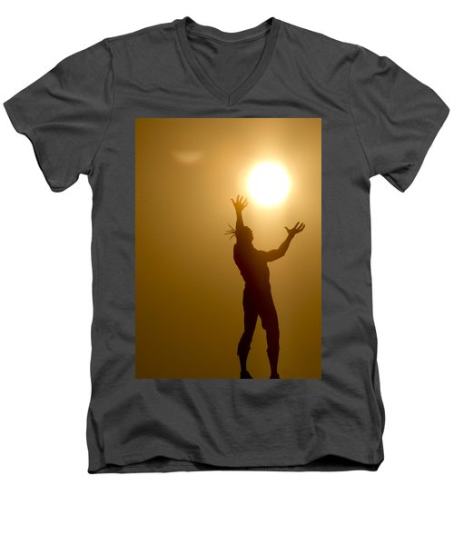 Raising The Sun Men's V-Neck T-Shirt