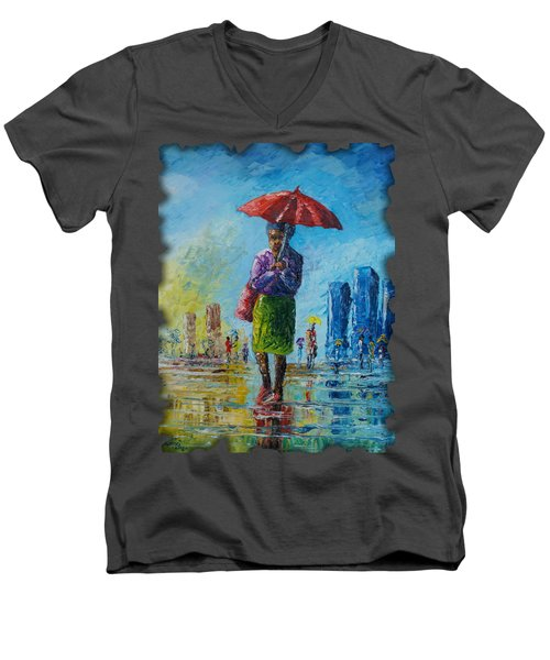 Rainy Day Men's V-Neck T-Shirt