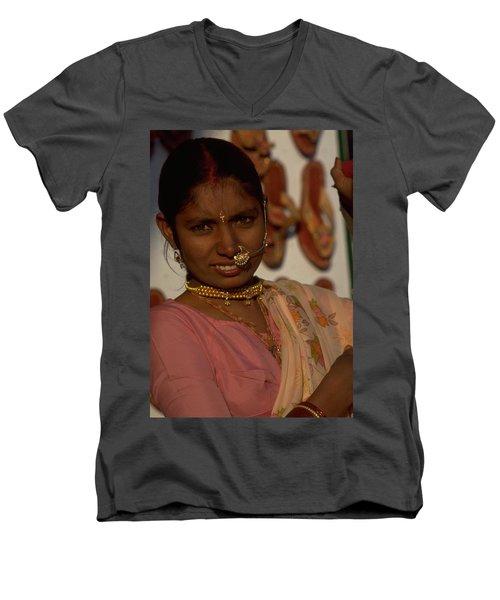 Rajasthan Men's V-Neck T-Shirt by Travel Pics