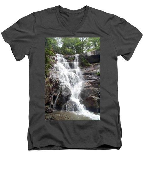 Ramsay Cascade Smoky Mountains National Park Men's V-Neck T-Shirt