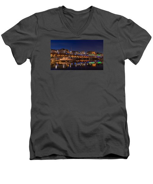 Ramsgate Marina At Night Men's V-Neck T-Shirt