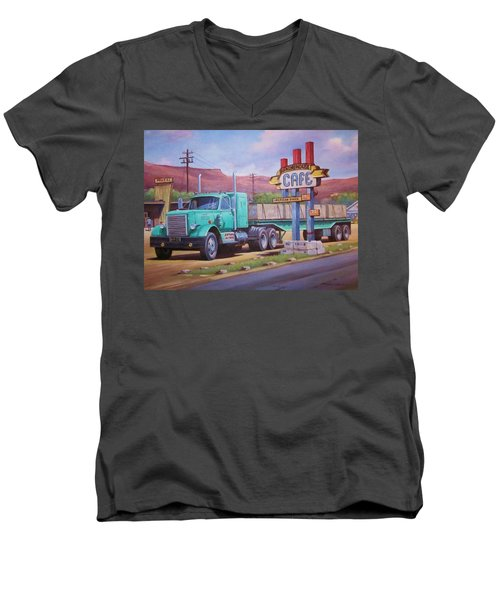 Ranch House Truckstop. Men's V-Neck T-Shirt by Mike Jeffries