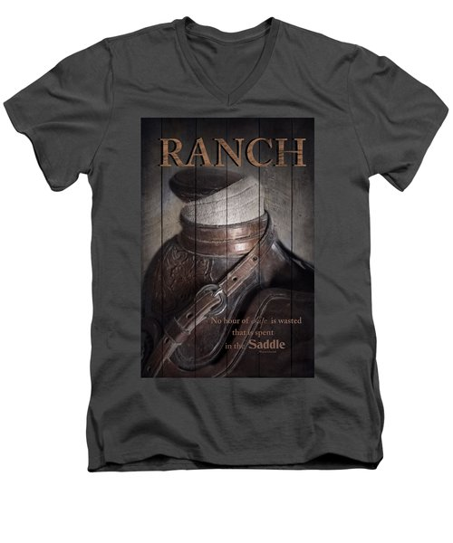 Men's V-Neck T-Shirt featuring the photograph Ranch by Robin-Lee Vieira