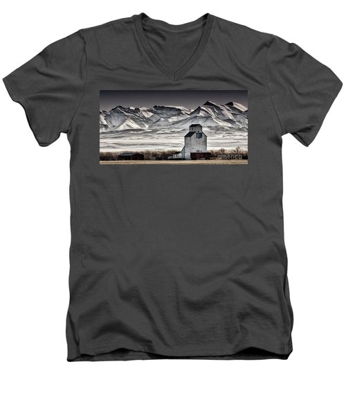 Ranchland Elevator Men's V-Neck T-Shirt