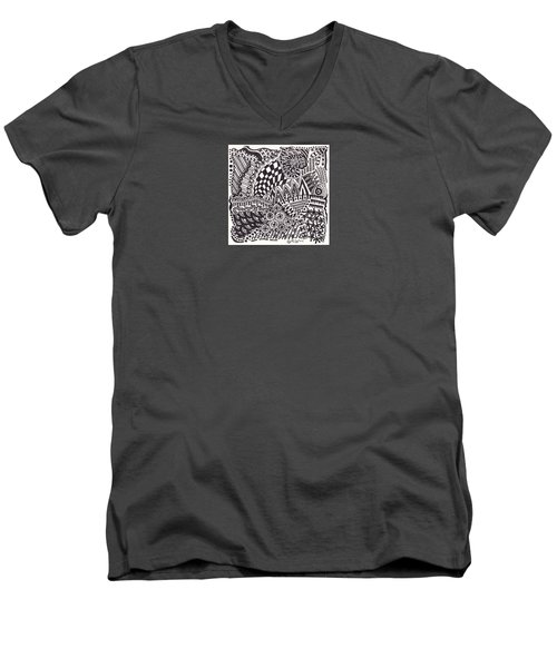 Random V Men's V-Neck T-Shirt by Molly Williams