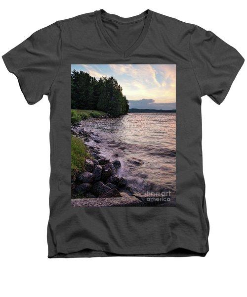 Rangeley Lake State Park In Rangeley Maine  -53215-53218 Men's V-Neck T-Shirt
