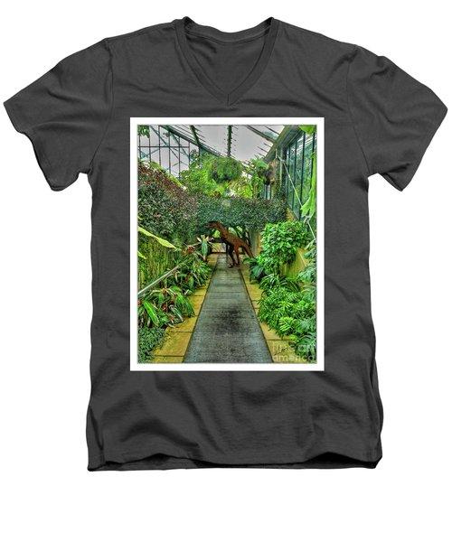 Raptor Seen In Kew Gardens Men's V-Neck T-Shirt