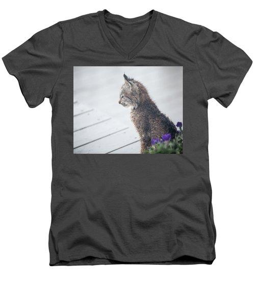 Profile In Kitten Men's V-Neck T-Shirt