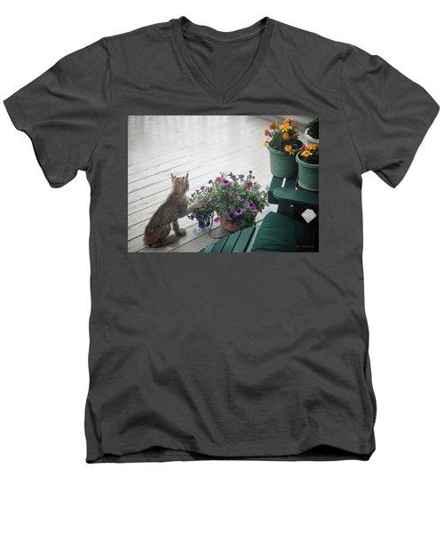 Swat The Petunias Men's V-Neck T-Shirt