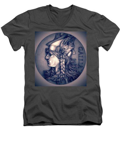 Rasberry Goddess Of Gaul Men's V-Neck T-Shirt by Fred Larucci