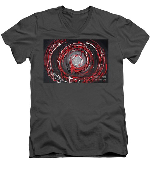 Raspberry Swirls Men's V-Neck T-Shirt