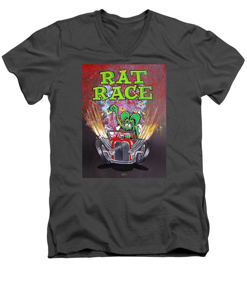 Rat Race Men's V-Neck T-Shirt