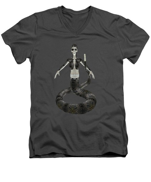 Rattlesnake Alien World Men's V-Neck T-Shirt by Dora Hembree