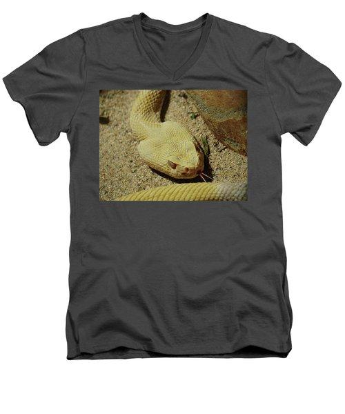 Rattlesnake Closeup Men's V-Neck T-Shirt