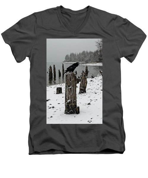 Raven Call Men's V-Neck T-Shirt