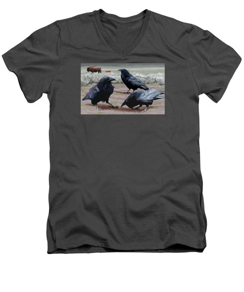 Raven Gathering Men's V-Neck T-Shirt