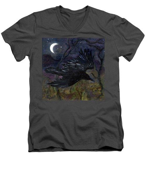 Raven In Stars Men's V-Neck T-Shirt