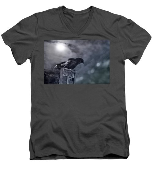 Raven Twilight Men's V-Neck T-Shirt