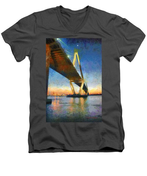 Ravenel Bridge Men's V-Neck T-Shirt