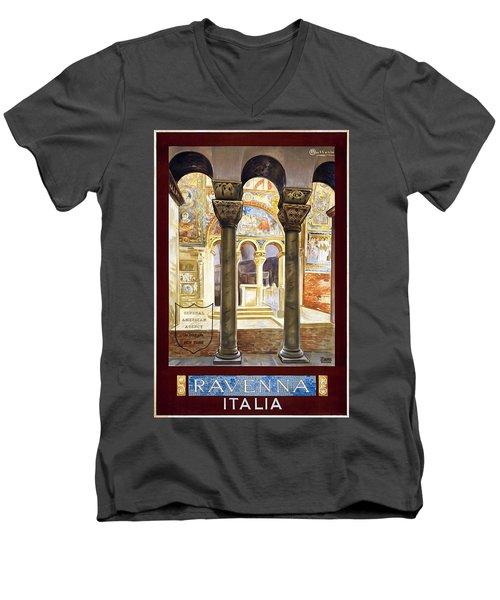 Ravenna, Travel Poster 1925 Men's V-Neck T-Shirt