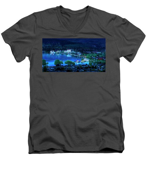 Men's V-Neck T-Shirt featuring the photograph Raven's Eye View by John Poon