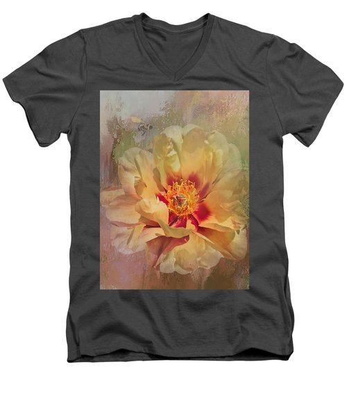 Rayanne's Peony Men's V-Neck T-Shirt
