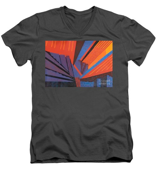 Rays Floor Cloth - Sold Men's V-Neck T-Shirt by Judith Espinoza