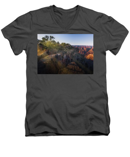 Rays Over The Canyon  Men's V-Neck T-Shirt