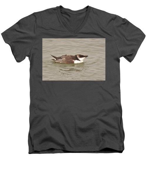Razorbill Men's V-Neck T-Shirt by Alan Lenk