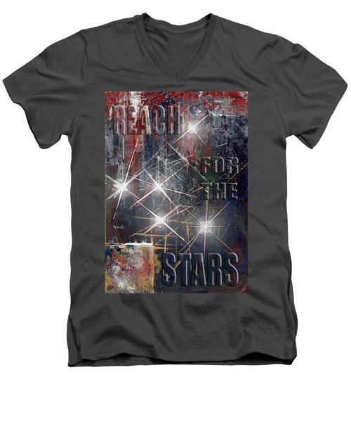 Reach For The Stars Men's V-Neck T-Shirt