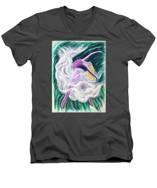 Reaching Out Men's V-Neck T-Shirt by Anya Heller