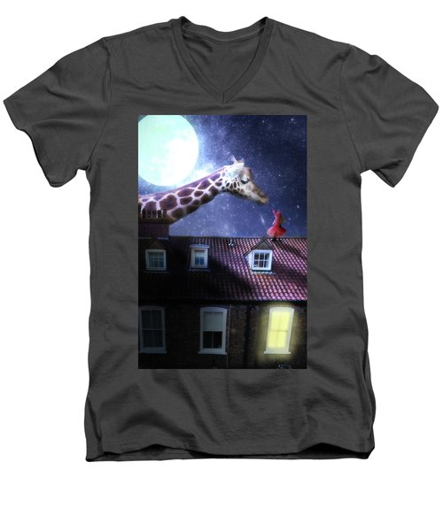 Reaching Out Men's V-Neck T-Shirt by Nathan Wright