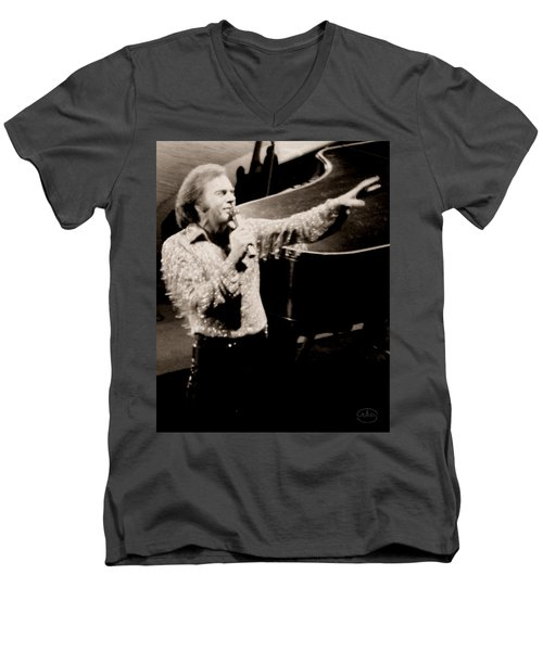 Reaching Out Men's V-Neck T-Shirt by Ron Chambers