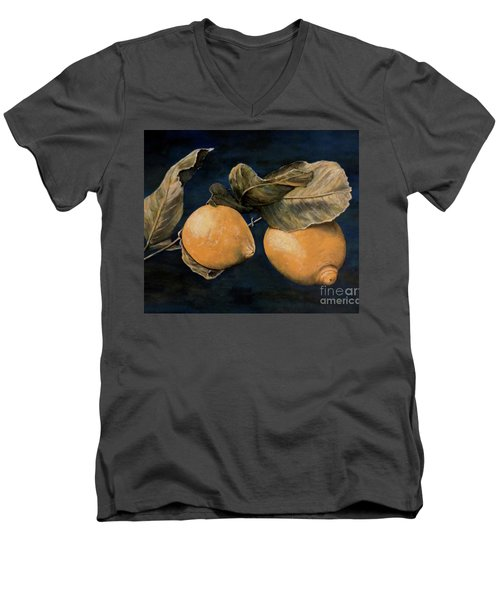 Men's V-Neck T-Shirt featuring the painting Ready For Picking by Judy Kirouac