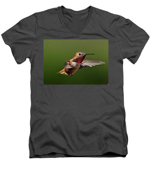 Ready Men's V-Neck T-Shirt by Sheldon Bilsker