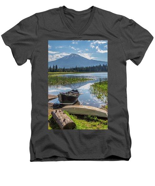 Ready To Fish Men's V-Neck T-Shirt