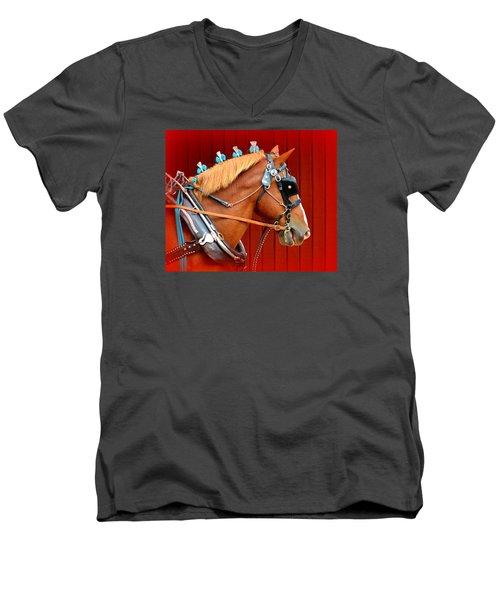 Ready To Pull Men's V-Neck T-Shirt by Lori Seaman