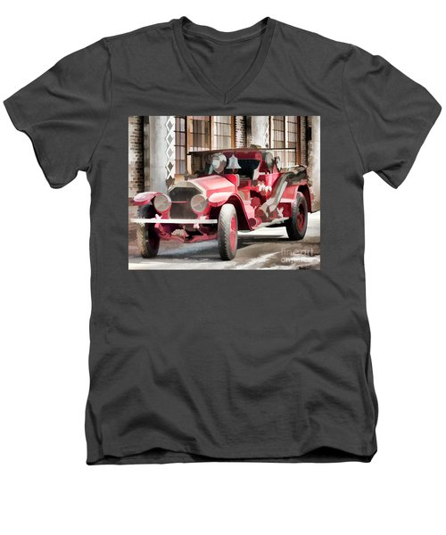 Men's V-Neck T-Shirt featuring the photograph Ready To Serve Again by Wilma Birdwell