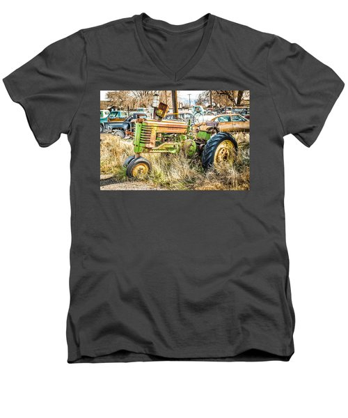 Men's V-Neck T-Shirt featuring the photograph Ready To Work by Jan Davies